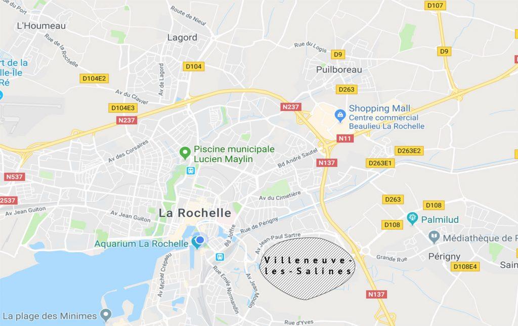 Zone prioritaire de la ville de La Rochelle : Villeneuve-les-Salines